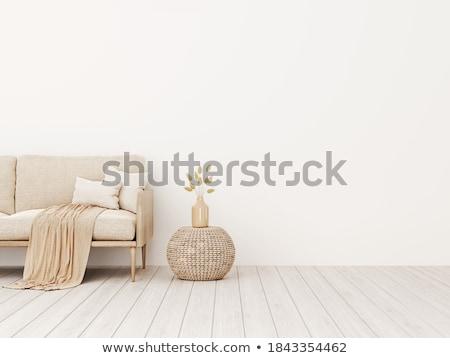 krémes · asztal · vászon · összehajtva - stock fotó © digifoodstock