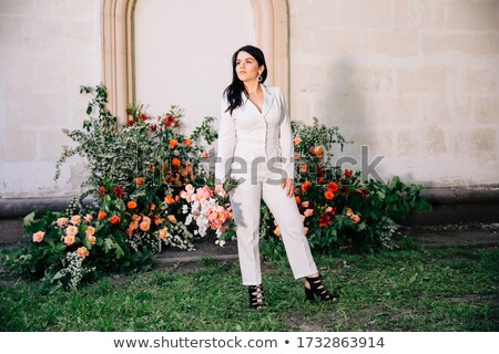 composite image of smiling woman against original background Stock photo © wavebreak_media