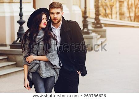 Romantic style portrait of an elegant couple Stock photo © konradbak