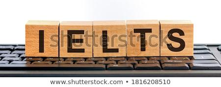 Tudományos izolált magasnyomás szó írott klasszikus Stock fotó © enterlinedesign