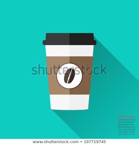 café · desayuno · iconos · blanco · vector · alimentos - foto stock © smoki