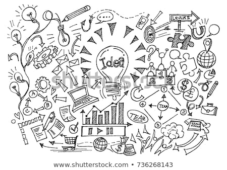 vision concept with doodle design icons stock photo © tashatuvango