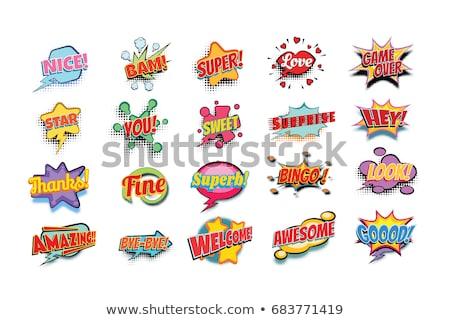 superb comic word Stock photo © studiostoks