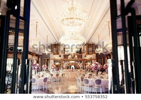 luxueus · bruiloft · diner · partij · glas · stoel - stockfoto © gsermek