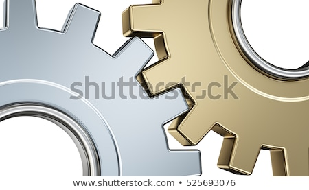 Stock photo: Technological Progress Concept. Golden Cogwheels. 3D Illustration.