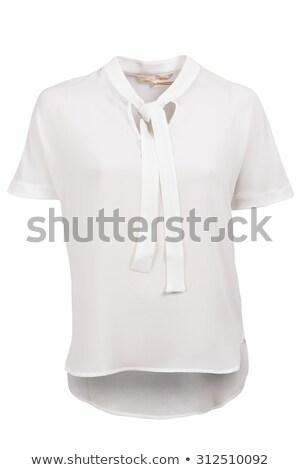エレガントな · 女性 · ブラウス · 孤立した · 白 · 服 - ストックフォト © gsermek