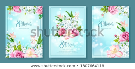 3 background Happy March 8 Stock photo © Olena