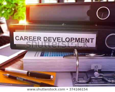żółty biuro folderze napis talent rozwoju Zdjęcia stock © tashatuvango