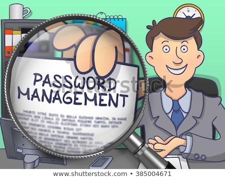 adat · titkosítás · lencse · firka · üzletember · papír - stock fotó © tashatuvango