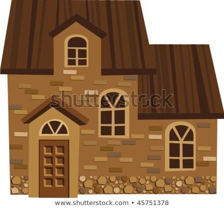 Old farm house attic door Stock photo © lubavnel