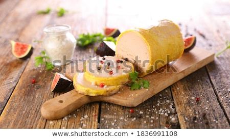 christmas canape with foie gras Stock photo © M-studio