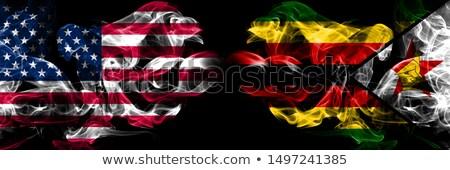 Futball lángok zászló Zimbabwe fekete 3d illusztráció Stock fotó © MikhailMishchenko