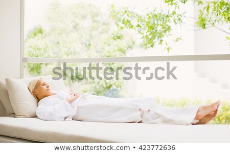 Attractive girl relaxing after the bath  Stock photo © dashapetrenko