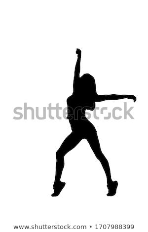 Balletdanser silhouet hoog kwaliteit gedetailleerd dansen Stockfoto © Krisdog