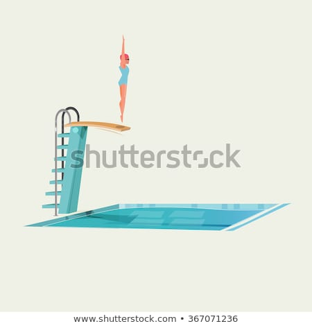 Person preparing to dive into swimming pool Stock photo © IS2