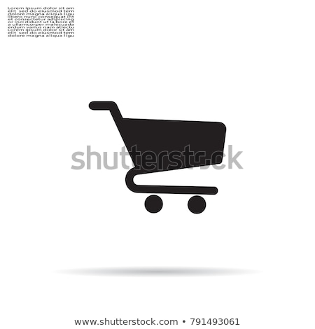 Shoping Cart Vector Icon Flat Design Stock photo © rizwanali3d
