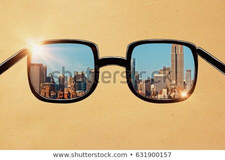 szín · napszemüveg · fehér · vektor · gyűjtemény · szemüveg - stock fotó © timurock