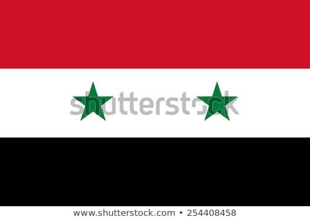 Syrië vlag witte frame teken groene Stockfoto © butenkow
