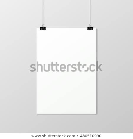 Vertical peça papel enforcamento sombra transparente Foto stock © romvo
