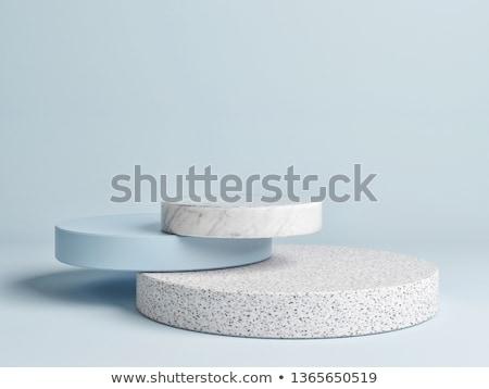 Blue abstract design 3D rendering Stock photo © ixstudio