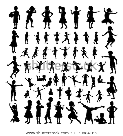 Children Kids Silhouette Big Set Stock photo © Krisdog