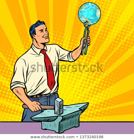 The scientist forges on the anvil of knowledge about planet eart Stock photo © studiostoks