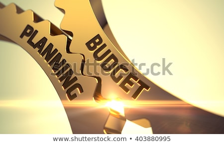 Golden Cog Gears with Cost Control Concept. 3D Illustration. Stock photo © tashatuvango