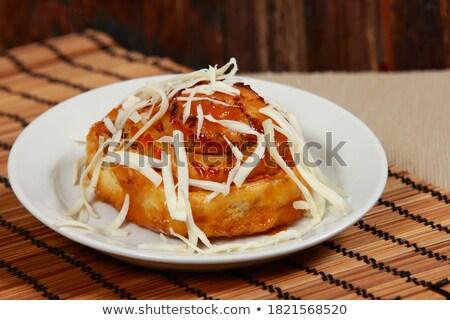 Pasta taze hazır beyaz gıda kek Stok fotoğraf © bdspn