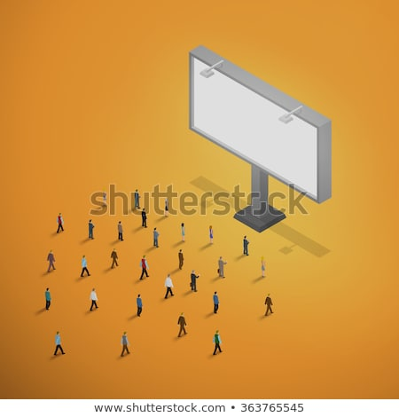 Vector isometrische billboard winkel laag outdoor Stockfoto © tele52