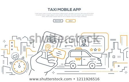 Taxi mobil app modern vonal terv Stock fotó © Decorwithme