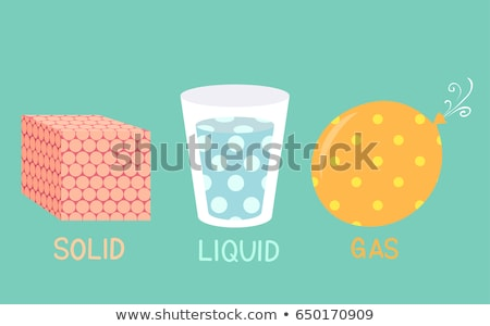 Teaching Materials Solid Liquid Gas Molecules Illustration Stock photo © lenm