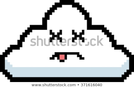 Dead 8-Bit Cartoon Cloud Stock photo © cthoman