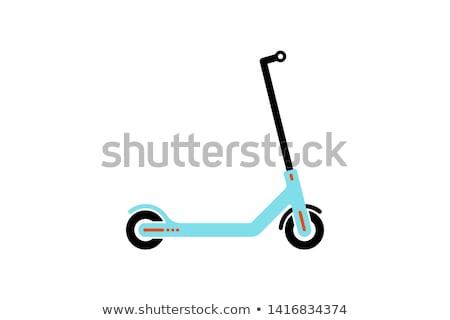 Vektor moped körvonal izolált fehér bicikli Stock fotó © dashadima