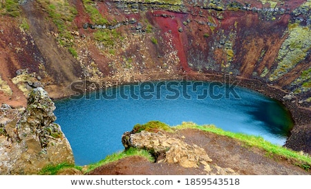 Volcanic lake with turquoise water in Iceland Stock photo © Kotenko