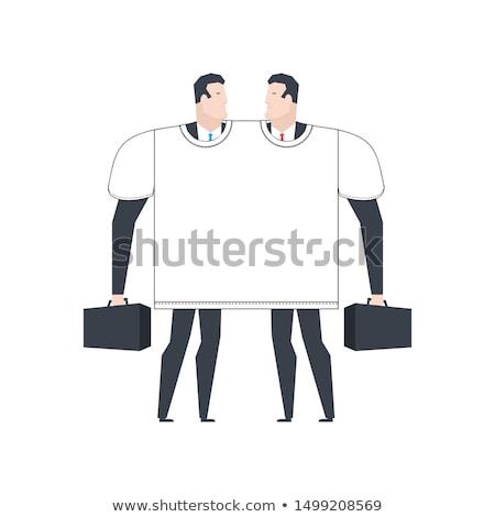 Бизнес-партнеры футболки два дело служба Сток-фото © MaryValery