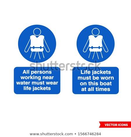 flat type Jacket blue vest men_icon Stock photo © toyotoyo