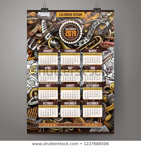 ストックフォト: 漫画 · デザイン · 芸術 · 年 · カレンダー