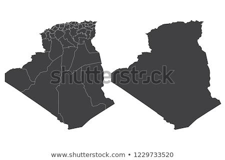 логотип икона Алжир карта вектора знак Сток-фото © blaskorizov