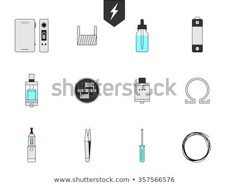 ストックフォト: 電気 · たばこ · 蒸気 · タンク · ベクトル · 芸術