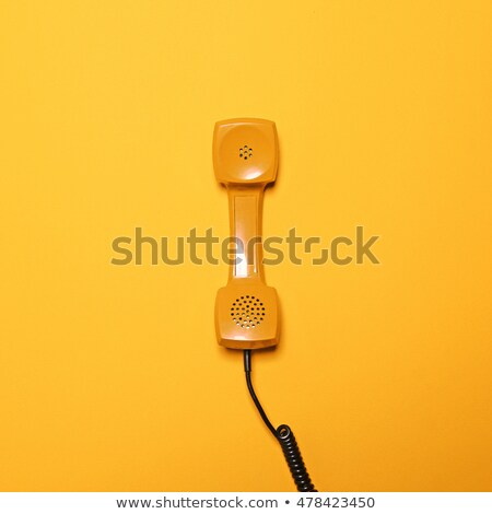 Top view of Old-fashioned telephone Stock photo © Arsgera