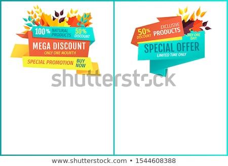 Mega vásár árengedmény természetes exkluzív termékek Stock fotó © robuart