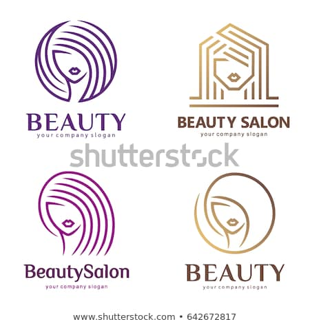 Spa Salon Hair Styling and Manicure Set Vector Stock photo © robuart