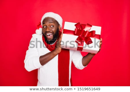 Guy barbe joyeux Noël drôle Photo stock © ruslanshramko