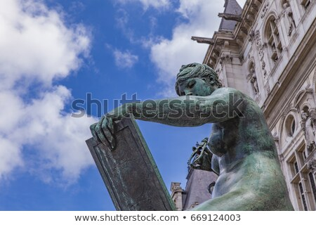 Sculpture La Science by Hotel de Ville (City Hall) in Paris Stock photo © boggy