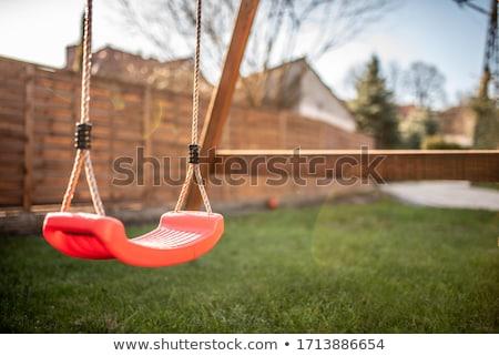 Swing парка иллюстрация цветы дерево природы Сток-фото © colematt
