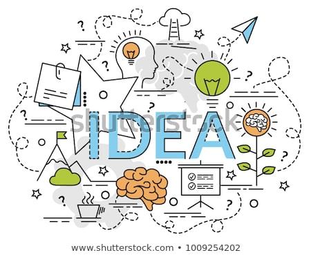 Affaires idée illustration affiche vecteur texte Photo stock © robuart