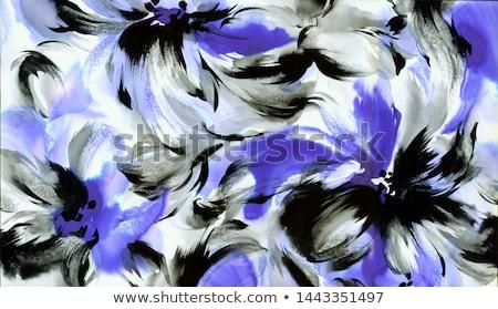 Elképesztő virágmintás dekoráció gyönyörű természetes keret Stock fotó © Anna_Om