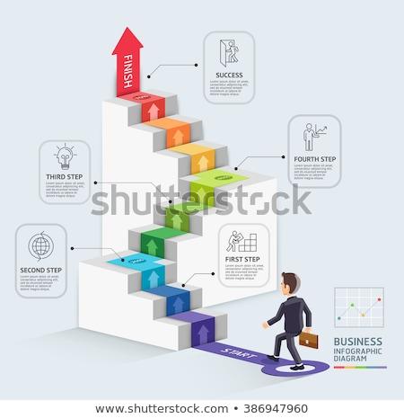 Geschäftsmann · Business · Infografiken · Geld · Mann · Welt - stock foto © elnur