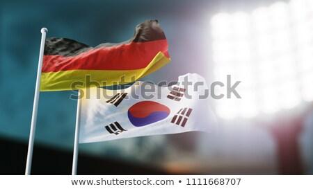 bayrak · Güney · Kore · beyaz · kültür · afiş · bekçi - stok fotoğraf © mikhailmishchenko