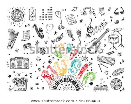 Drumstick hand drawn sketch icon. Stock photo © RAStudio